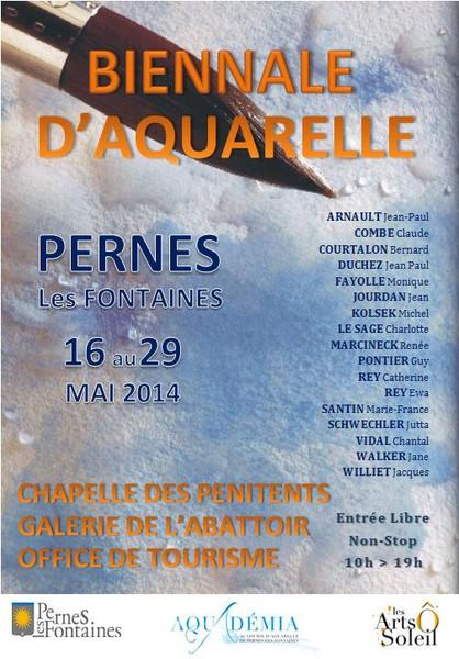 Biennale de l 39 aquarelle - Pernes les fontaines office de tourisme ...