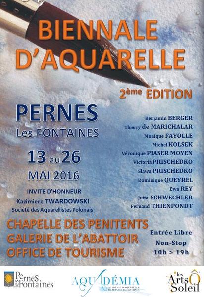 2e biennale d 39 aquarelle - Office de tourisme de pernes les fontaines ...