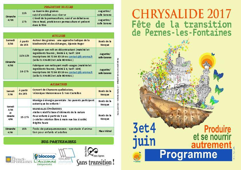 Chrysalide : Fête de la transition