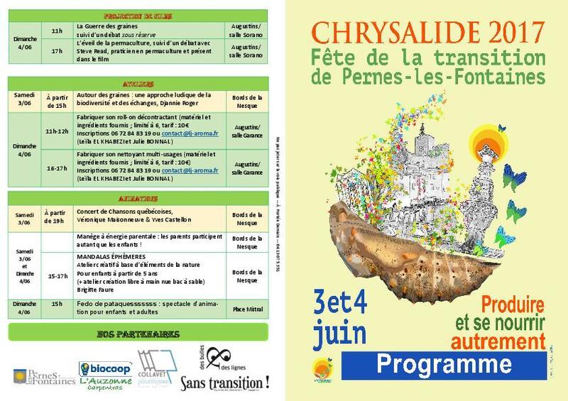 Chrysalide : Fête de la transition