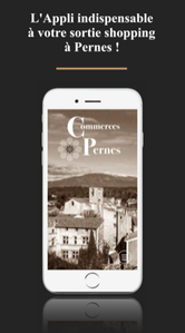"L'application ""Commerces Pernes"""